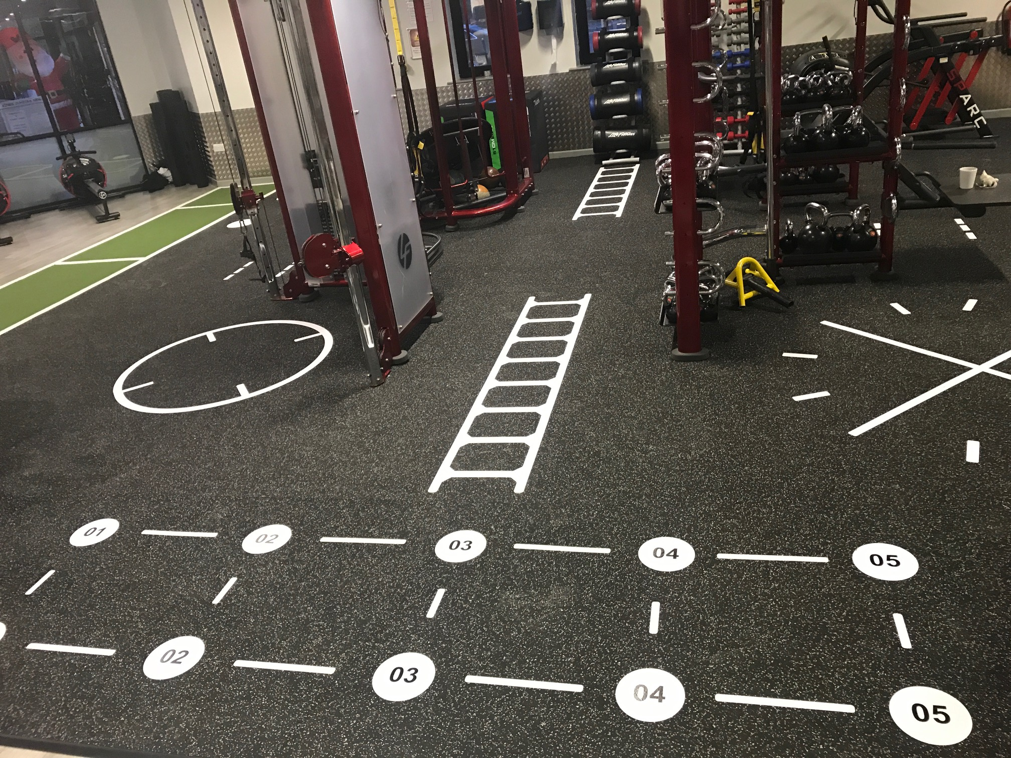 Sport And Fitness Flooring Line Marking Amp Graphics
